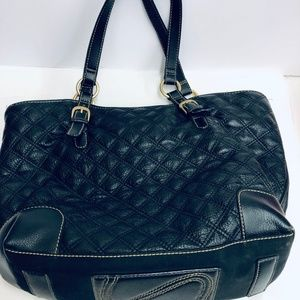 The Sak Quilter Leather Black Tote